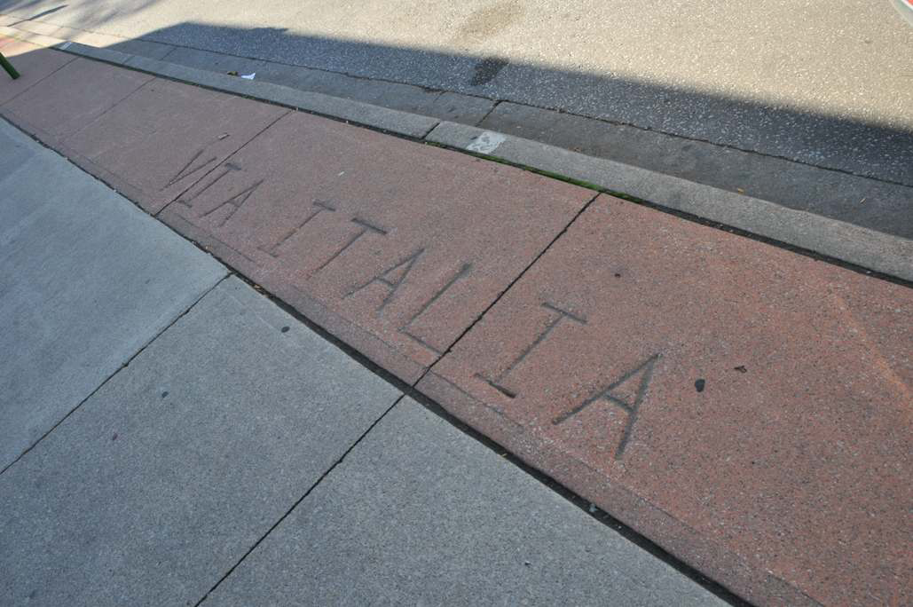 Via Italia Windsor's Little Italy Imprint on Sidewalk